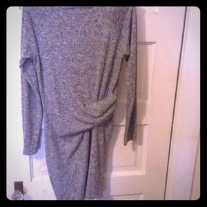 Athleta Sz XS gray dress with ruching